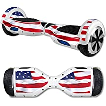 MightySkins Protective Vinyl Skin Decal for Hover Board Self Balancing Scooter mini 2 wheel x1 razor wrap cover sticker American Flag