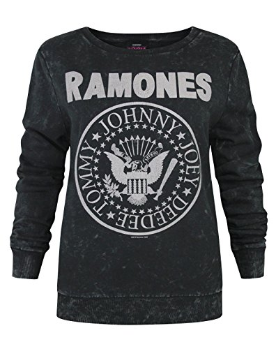 Amplified Ramones Seal Logo Women's Macrame Sweater