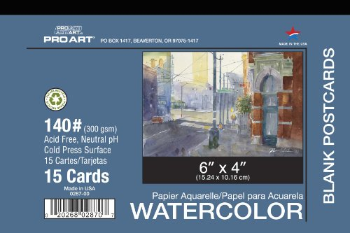 Pro Art 4-Inch by 6-Inch Watercolor Postcard by PRO ART