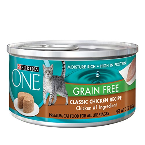 Purina One Grain Free Classic Chicken Recipe Premium Pate Wet Cat Food - (24) 3 oz. Cans (Nutrition Whole Chicken)