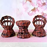 1:6 scale doll furniture set. Handmade wicker, rattan look chairs and table for 1:6 scale / 12-inch doll.