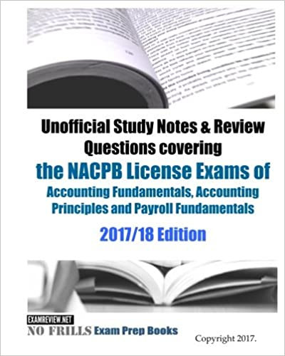 nacpb bookkeeping certification material