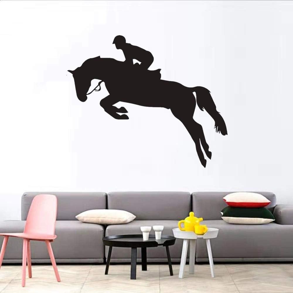 wZUN Pegatinas Creativas de Pared de Animales con Caballos, Sala de Estar, Dormitorio, decoración del hogar, Pegatinas de Pared para habitación de niños, Decoraciones de Pared Mural 30X24cm