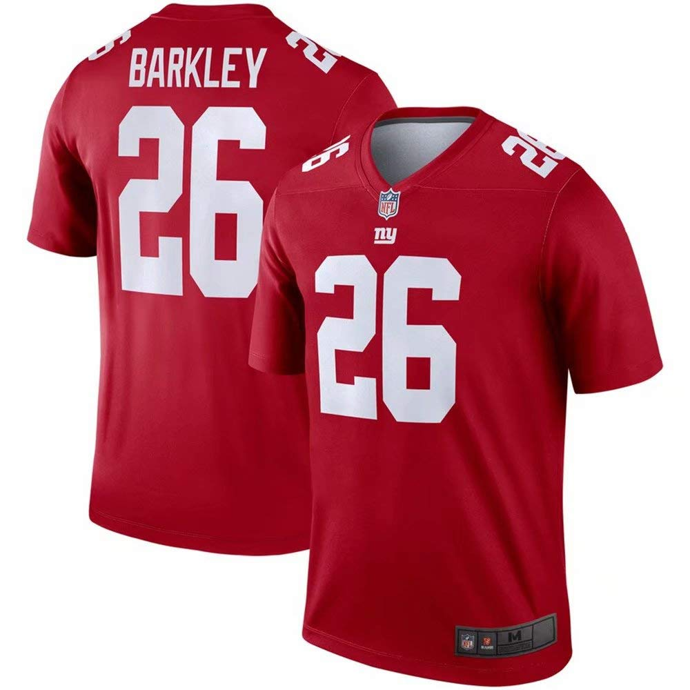 reputable site 601fe 6cce1 Amazon.com: #26 New York Giants Saquon Barkley Red Inverted ...