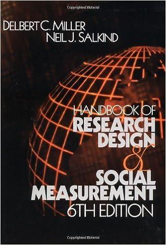 Book Handbook of Research Design and Social Measurement (January 16, 2002)