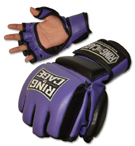 Womens Fitness (All Purpose) MMA Maximum Safety Sparring Gloves - Purple (lavender) (Medium)