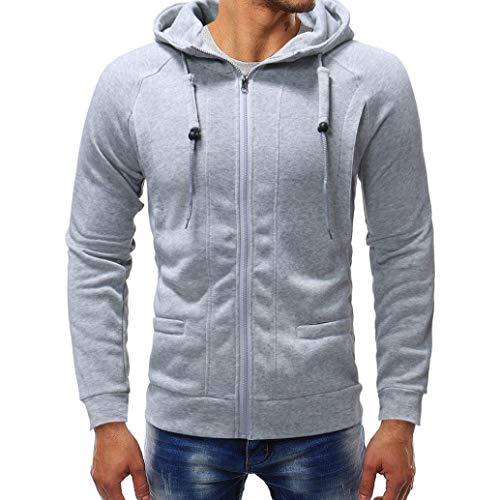 kaifongfu Hoodies Top,Long Sleeve Men's Autumn Winter Casual Sweatshirt Tracksuits Tracksuits(Gray3XL) (Jacket Track Cashmere)
