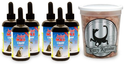 Joint Max 6-Pack Liquid for Cats (48 oz) + Free Kitty Kuisine