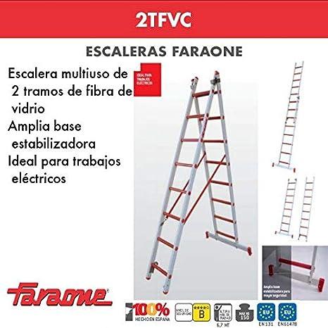 ESCALERA PROFESIONAL 2TFVC FARAONE. LCS (2TFVC.250 8+8Peldaños): Amazon.es: Bricolaje y herramientas