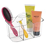 mDesign Bathroom Shower Caddy Tote for Shampoo, Conditioner, Soap - Clear