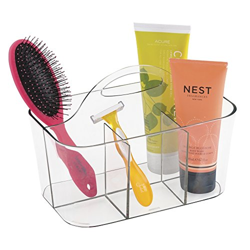 mdesign-bathroom-shower-caddy-tote-for-shampoo-conditioner-soap-clear
