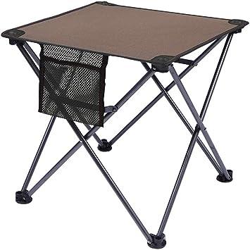 LEYOUDIAN Ycz Mesas y sillas Plegables Mesa y sillas de Picnic con luz portátil al Aire Libre Barbacoa autónoma Mesa de Camping Salvaje (Color : Brown): Amazon.es: Deportes y aire libre
