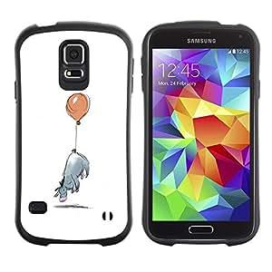 "Hypernova Slim Fit Dual Barniz Protector Caso Case Funda Para Samsung Galaxy S5 [Minimalista Cartoon Kids""]"