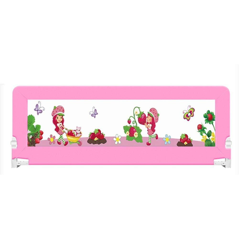 XIAOMEI,安全フェンス 折り畳み式ベッドバー、子供用ガードレールセーフティベッドガードレール(ブルー、ピンク)-80cm、120cm、200cm。 ベッドの手すり (色 : Pink, サイズ さいず : 200cm) 200cm Pink B07L8F8VMB