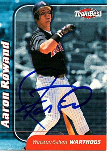 Aaron Rowand White Sox Winston-Salem 1999 Team Best Signed Card