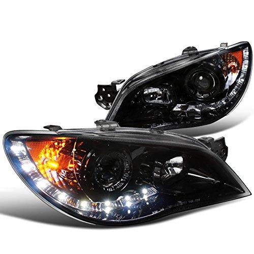 Spec-D Tuning 2LHP-WRX06G-TM Subaru Impreza Wrx Sti Tr Wagon 4Dr Led Projector Headlights Smoked (Subaru Impreza Wagon Sti)
