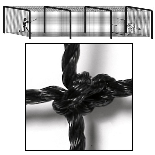 Image of Batting Cages COLLEGIATE Batting Tunnel Net (70'L X 12'W X 12'H)