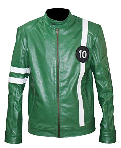 Ben-10-Ailen-Swarm-Green-Costume-Synthetic-Leather-Jacket
