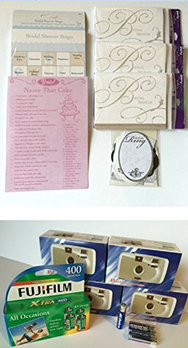 bridal shower party bundle invitations games bingo cards name that cake and capture precious moments w