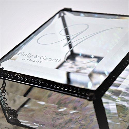 J Devlin Box 829 EB 302 Monogrammed Glass Box Engraved Glass Box for Bride Keepsake Gift