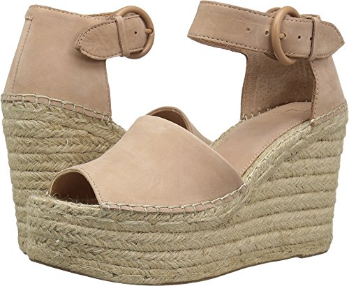 Marc Fisher LTD Women's Alida Espadrille Wedge Light Pale Rust Kid Suede 9 M US ()