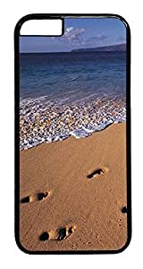 Beach Footprints iPhone 6 s Hard Case PC - of Black, Back with Cover Case for Apple bomber iPhone 6(4.7 inch)...