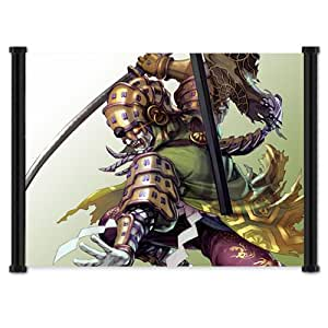 Soul Calibur 4 Game Yoshimitsu Fabric Wall Scroll Poster (21x16) Inches
