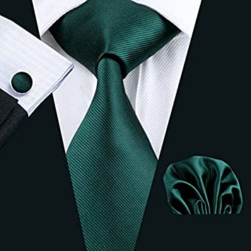 Apparel Accessories Ls-830 Mens Tie Green Solid 100% Silk Classic Jacquard Woven Barry.wang Tie+hanky+cufflinks Set For Men Formal Wedding Party