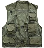 Outdoor Quick-Dry Fishing Vest; Marsway Multi Pockets Mesh Vest Fishing...