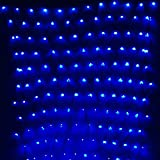 Led Net Lights, GBB 672 LED bulbs, Waterproof 9.8ft x 6.5ft / 3m x 2m Christmas Lights, 8 Modes LED String Lights Perfect for Bedroom Garden Christmas Tree Stage Outdoor Wedding Party - Blue