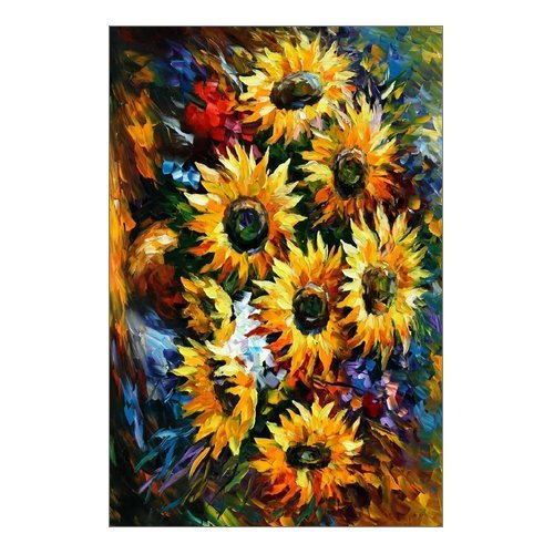 Abstract Sunflower Artwork