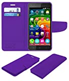 Acm Mobile Leather Flip Flap Wallet Case for Micromax Bolt Q331 Mobile Cover Purple