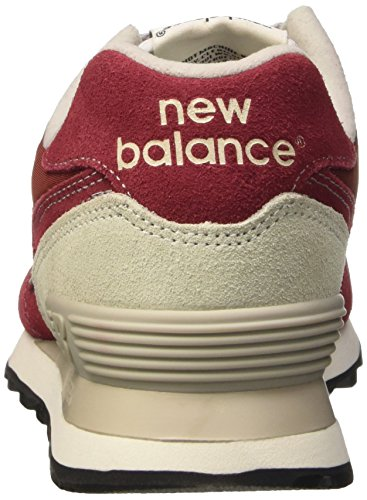 Balance New NBML574VBU Unisex Burgundy Sneaker 1RdzRx0q