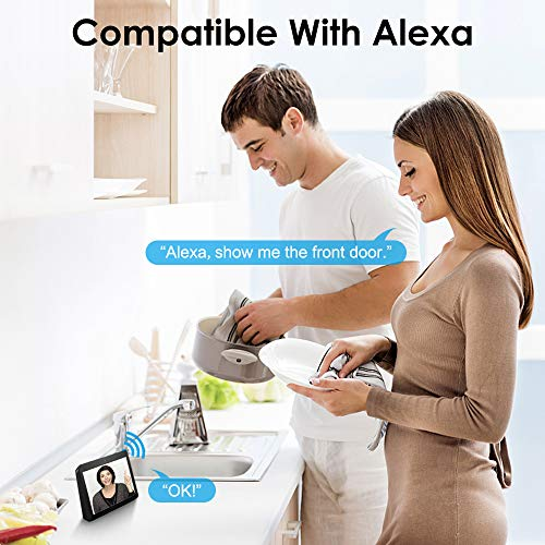 Video Doorbell, NETVUE Wireless Doorbell Camera with Two-Way Talk, IR Motion Detection, Night Vision, Compatible with Alexa Echo Show, Wifi Camera Doorbell with Cloud Storage [Wall Plug Included] (A) by NETVUE (Image #3)