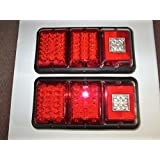 TWO BARGMAN UPGRADE ALL LED Camper, RV, Trailer Tail Light RECESS MOUNT