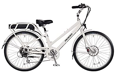 "Pedego City Commuter 26"" Step Thru White with Brown Balloon Package 48V 15Ah"