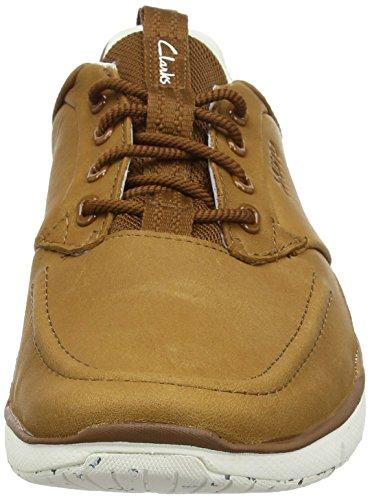 Clarks Orson Crew, Sneaker Uomo Marrone (Tan Leather)