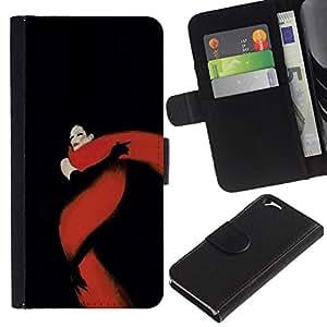 All Phone Most Case / Oferta Especial Cáscara Funda de cuero Monedero Cubierta de proteccion Caso / Wallet Case for Apple Iphone 6 // Black Red Fatal Glamorous