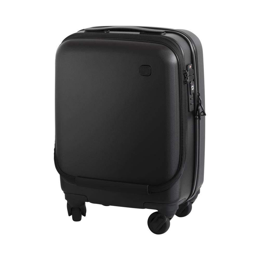 プラスマイナスゼロ スーツケース コインロッカーサイズ [22L / ブラック] ±0 SUITCASE ZFS-D040 B07S9YCLQZ