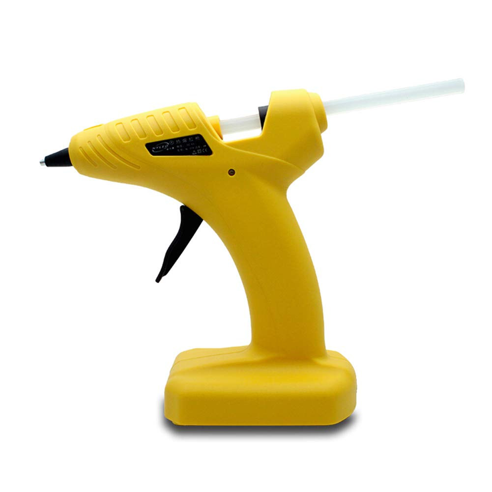Upgraded Hot Glue Gun, Battery Hot Glue Gun, Precision Nozzle with Safety Stand, for DIY Small Projects DIY Crafts Home and Office Quick Repairs,Yellow