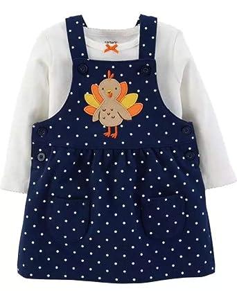 0abfd7cf809d Amazon.com  Carter s Baby Girls 2-Piece Thanksgiving Bodysuit ...