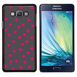 YiPhone /// Prima de resorte delgada de la cubierta del caso de Shell Armor - Rosa Modelo de lunar gris - Samsung Galaxy A7 A7000