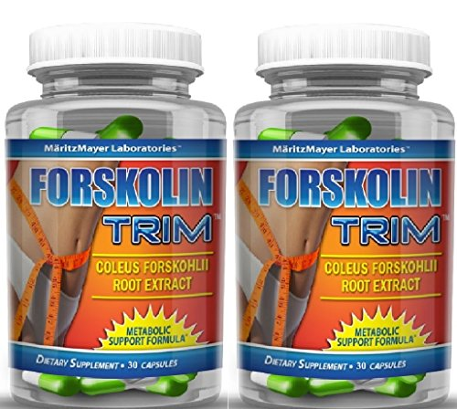 MaritzMayer Forskolin Trim Metabolic Support Weight Loss Formula 10% 125mg 30 Capsules (2) by Maritz Mayer