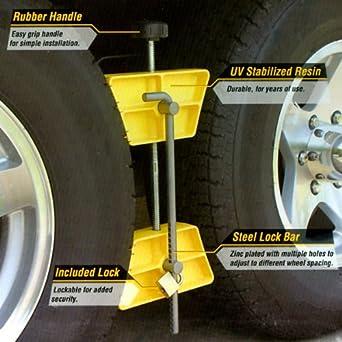 Tandem Wheel Chock Wheel Stop Chock Dually Wheel Chock