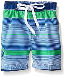 Kanu Surf Little Boys\' Toddler Specter Stripe Swim Trunks, Navy, 4T