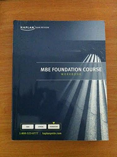 Download Kaplan PMBR Bar Review MBE Foundation Course Workbook pdf
