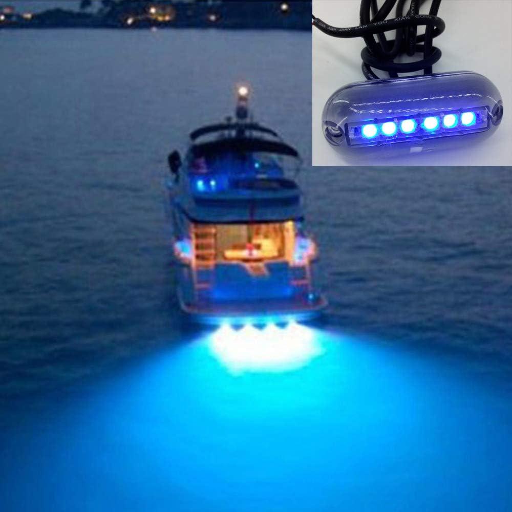 luces de proa de barco de 12 V CC Ahageek Luz de navegaci/ón marina LED luz individual de barco impermeable IP67 luces de cubierta para catamar/án de bote auxiliar 2 piezas luces de popa