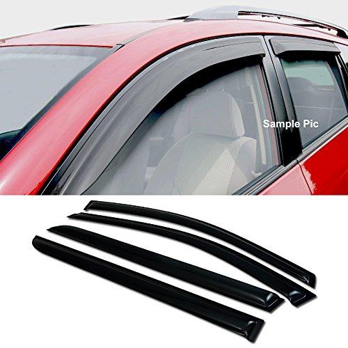 VXMOTOR For 2005-2007 Odyssey Van Sun/Rain Guard Smoke Vent Shade Window Visors