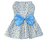Petroom Cute Dog Clothes Pet Costume Puppy Dress ,Doggie Sundress For Small Girl Dogs Blue S