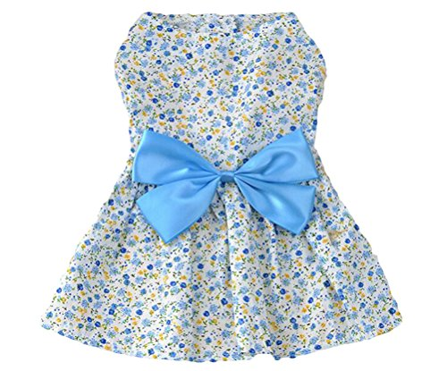 Cute Clothes For Puppies (Petroom Cute Dog Clothes Pet Costume Puppy Dress ,Doggie Sundress For Small Girl Dogs Blue)